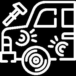 Dented car icon